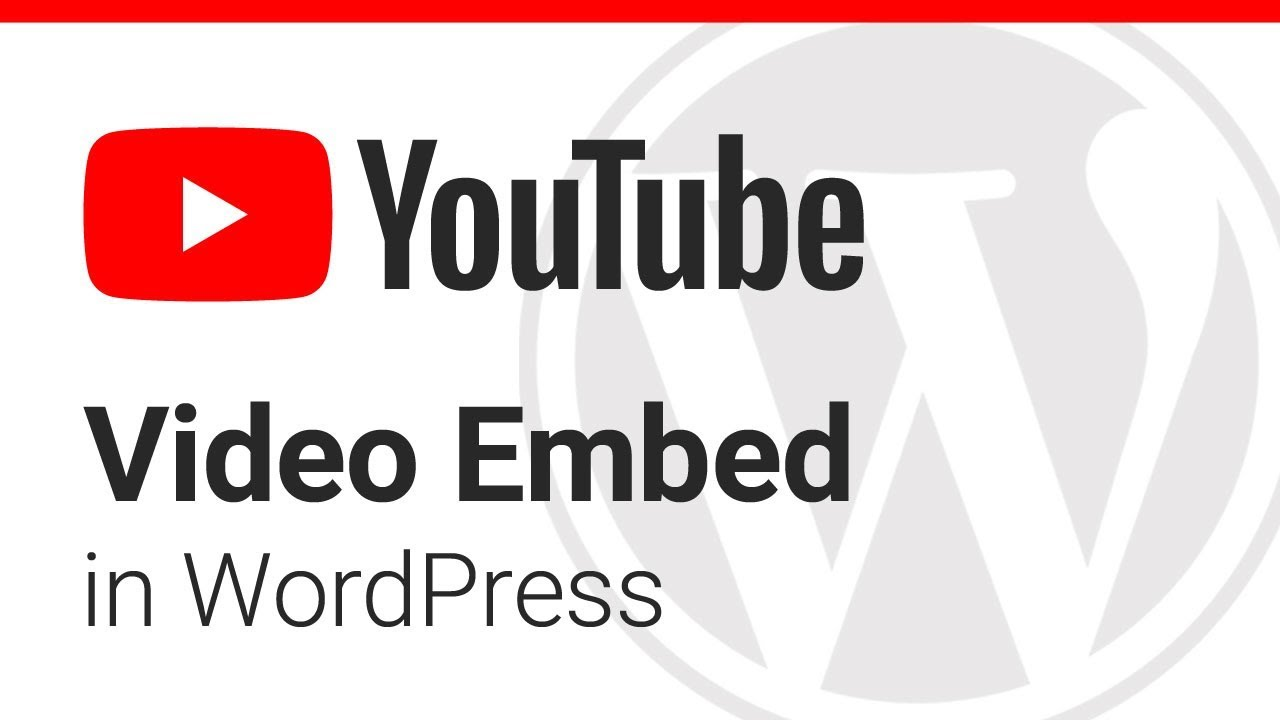 How to Embed a YouTube Video in WordPress - YouTube