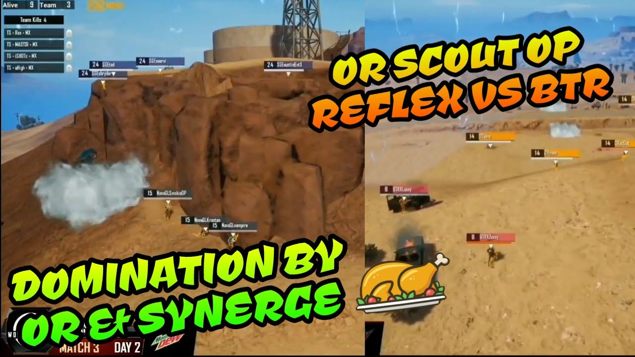 Or Scout OP Reflex Vs BTR, Domination By Synerge and Orange Rock Pubg Mobile World League Highlight