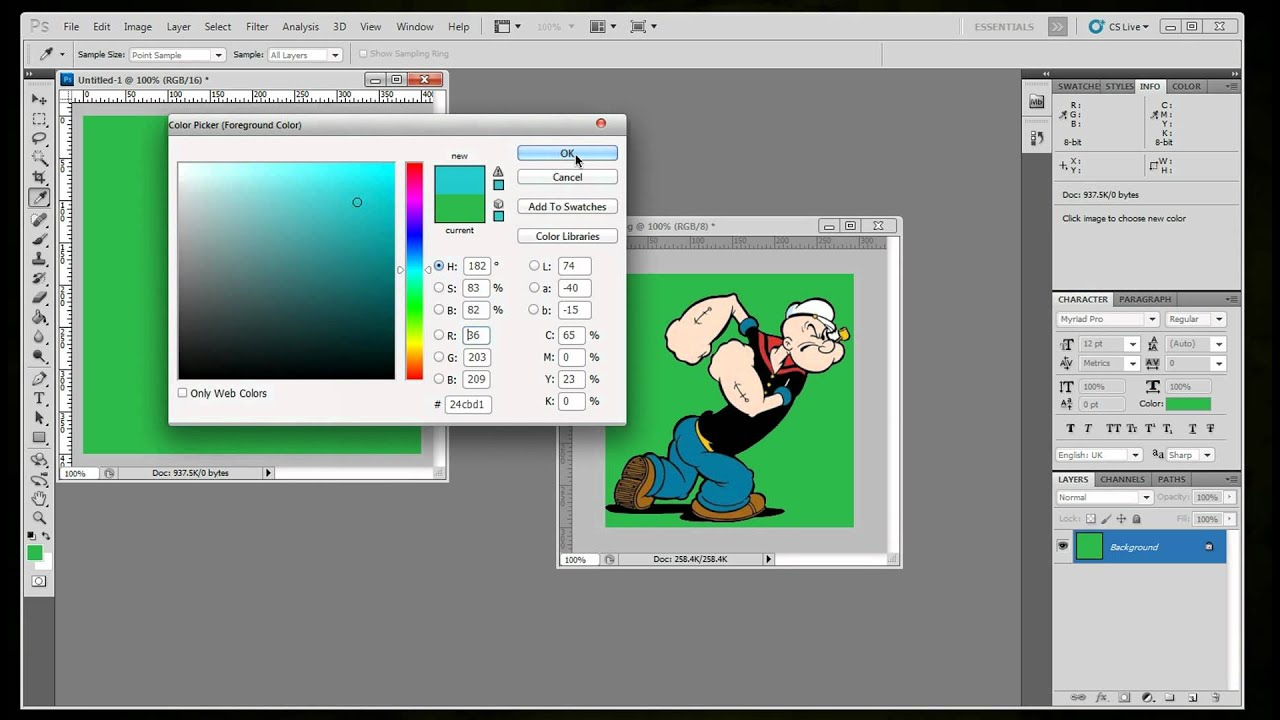 how to get rid of background in photoshop cs5