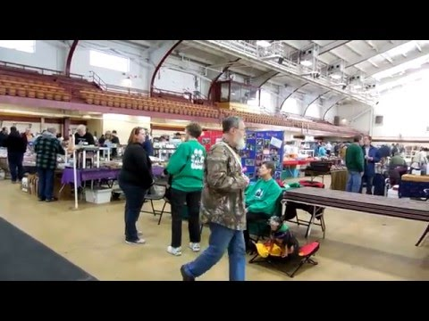Mount Pleasent, MI. Train Show on the Campus of CMU