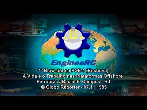 Blowout na Plataforma de Enchova - Globo Reporter - © Globo (1985)