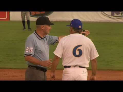 Wally Backman Argues With Umpire on Bunt Play (652)