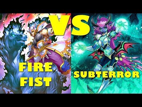 Real Life Yugioh - FIRE FIST vs SUBTERROR   July 2017 Scrub League Pre-Link