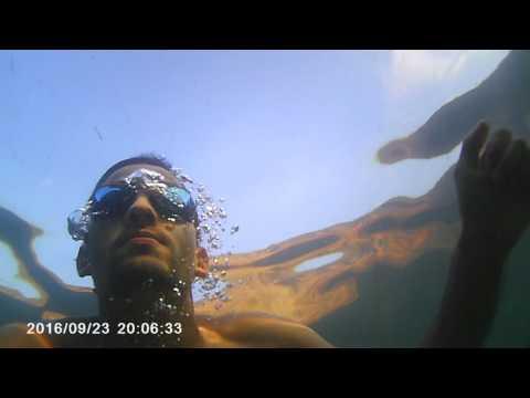 Full HD Action camera underwater testing, Algeria.