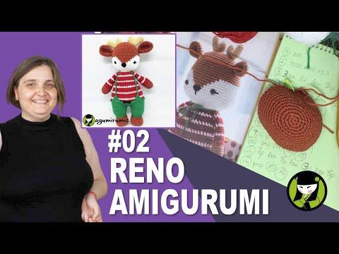AMIGURUMI PARA NAVIDAD 02 reno tejido a crochet