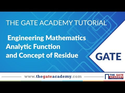 Analytic Function and Concept of Residue  | Engineering Mathematics | GATE Preparation | ME