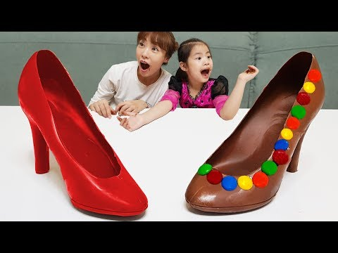 !!        Giant High-heeled Shoes Chocolate