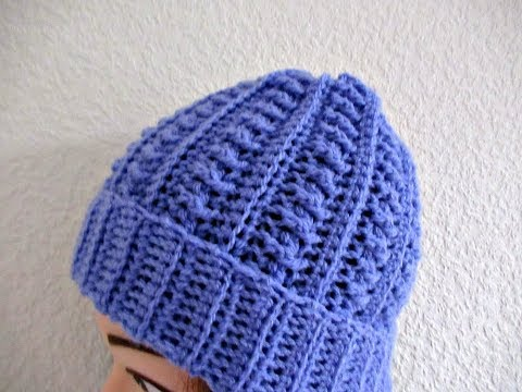 Crochet beanie hat adults women's tutorial Make smaller for child- Designed by Happy Crochet Club Mp3