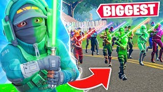 THE BIGGEST LIGHTSABER BATTLE in FORTNITE!