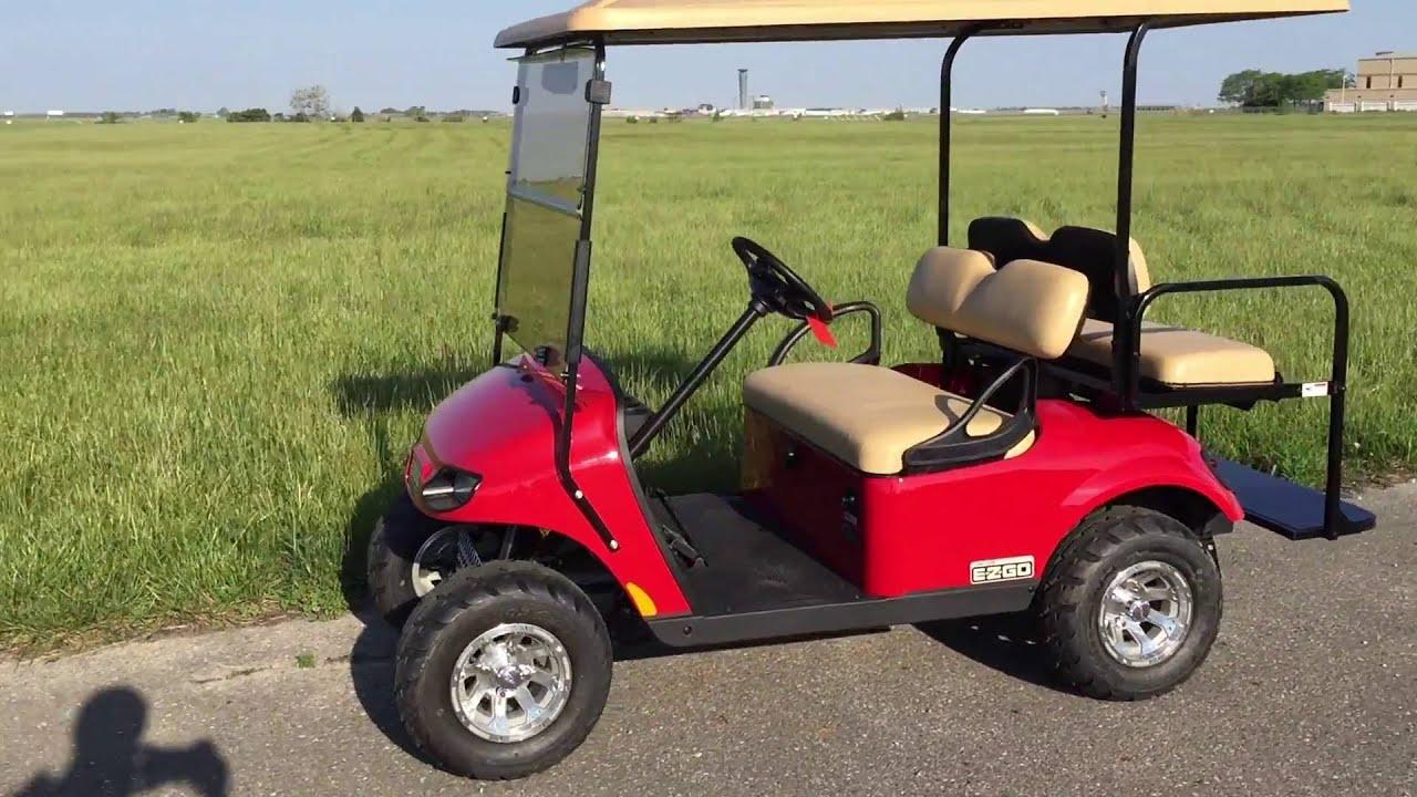 2016 E Z Go Valor Gas Red Custom Golf Car Located In