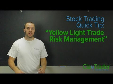 Stock Trading Quick Tip: Yellow Light Trade Risk Management