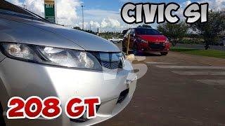 Teste 0-200 HONDA CIVIC SI [VS] PUG 208 GT+TORK ONE