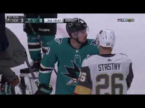 Cody Eakin gets five minute major for cross-checking Pavelski, sparks Sharks comeback