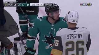Download Cody Eakin gets five minute major for cross-checking Pavelski, sparks Sharks comeback Mp3 and Videos