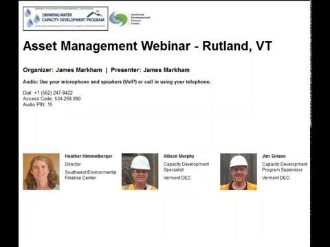 Asset Management Webinar Rutland, VT