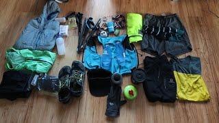 My gear for a 55km run
