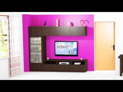 Como hacer un mueble para la sala de estar youtube for Modelos de muebles para sala