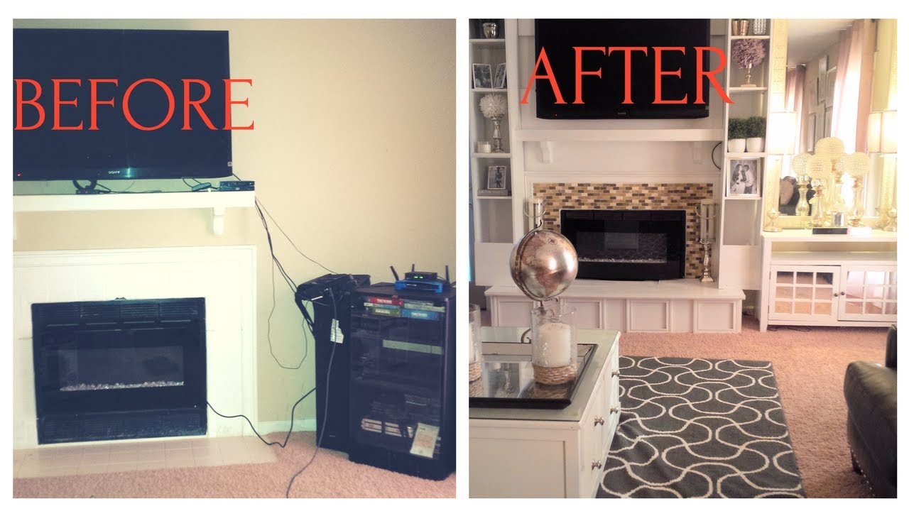 Diy Fireplace Makeover L And Stick Tile Mineral Tiles