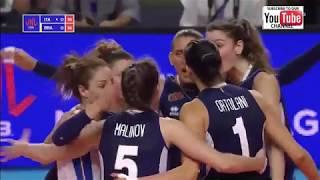 Italy - Brazil W VNL 2018 - Full Match Highlights - HD