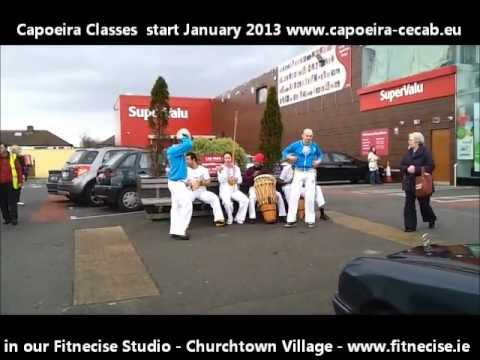 Capoeira Demo in Churchtown Village South Dublin Ireland in January 2013