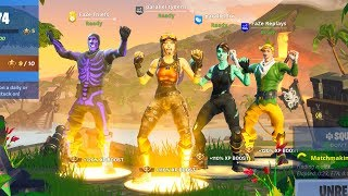 We created the FUNNIEST all RARE SKIN squad in Fortnite.. (ALL OG SKINS)