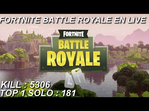 [FR/PC/LIVE] Fortnite  en solo 181 wins!