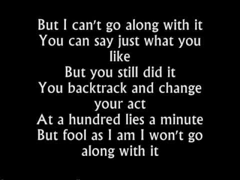 Rebecca Ferguson - Backtrack - Lyrics