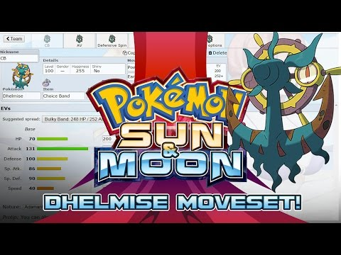 Dhelmise Moveset Guide! How to use Dhelmise! Pokemon Sun and Moon! w/ PokeaimMD!