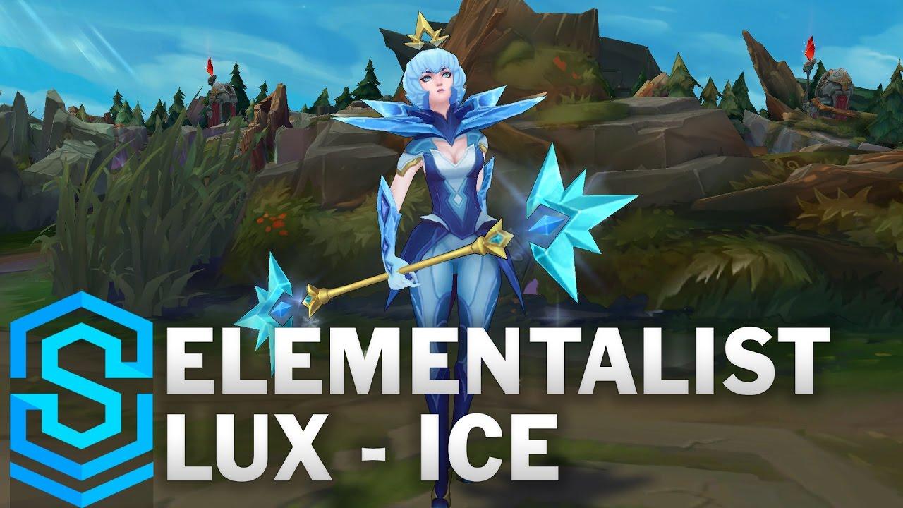 Elementalist Lux (Ice Form) Skin Spotlight - League of Legends ...