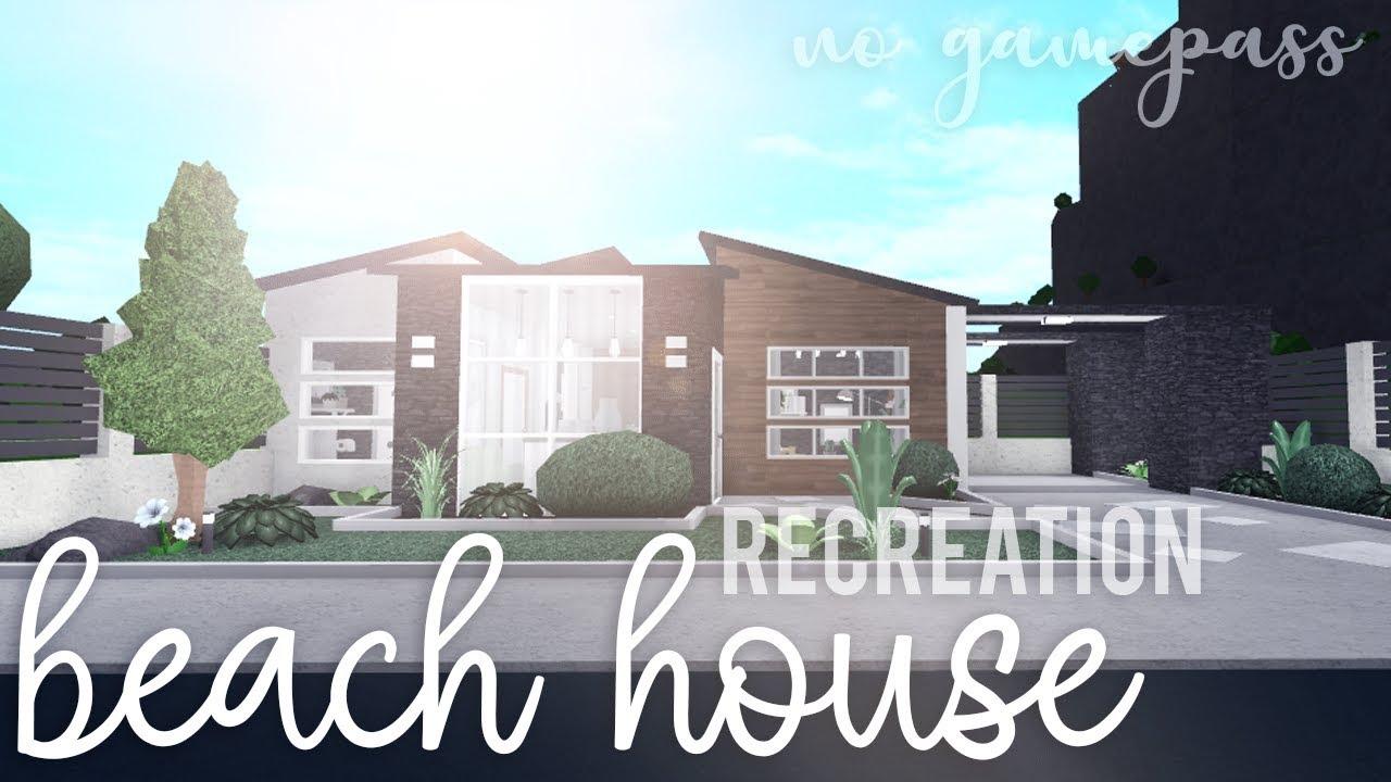 Bloxburg No Gamepass Beach House Recreation 42k Youtube