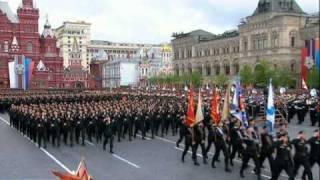 Парад Победы 2011 Морская пехота