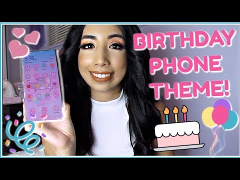 💖MY CUTE PHONE THEME FOR MY BIRTHDAY!!💖