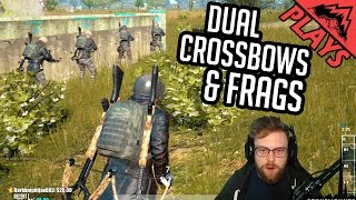 DUAL CROSSBOWS & FRAG ONLY - Player Unknown's Battlegrounds #43 (PUBG Custom Games Gameplay)