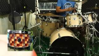 O.N.CUSTOM DRUMS - Crazy Train Drum Cover with Hybrid Snare Drum