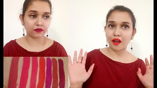 Gala of London Long Stay Liquid Lipstick | Affordable Matte Lipstick Lip Swatches