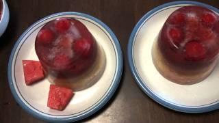 リクエストがありましたムックとラムの大好きなフルーツたっぷりの氷菓...