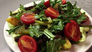 Тёплый салат с говядиной   ЖАРОВНЯ
