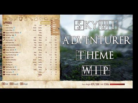 SkyUI Themes - The Adventurer WIP
