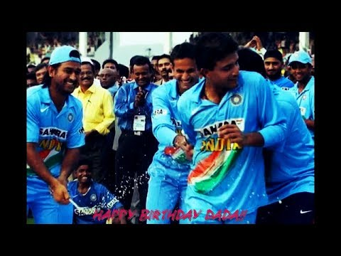 Saurav Ganguly!  Tribute to the legend!...