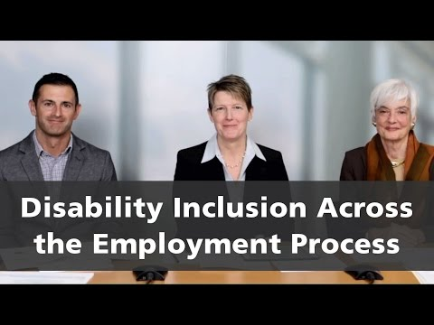Disability Inclusion Across the Employment Process