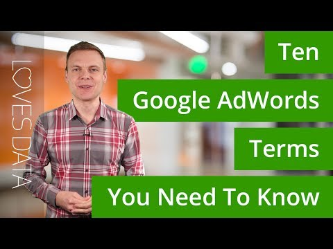 10 Google AdWords Terms You Need To Know