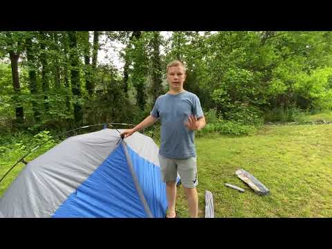 How To Set Up Ozark Trail 1 Person Backpacking Tent.