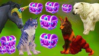 100 СУНДУКОВ открывают разные ЖИВОТНЫЕ в WILDCRAFT Симулятор