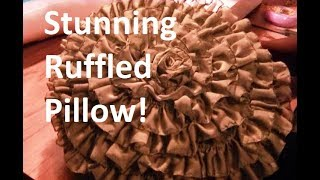 DIY Ruffle Rosette Pillow - Freestyle Friday #23