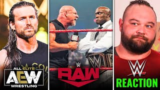 Adam Cole LEAVING WWE FOR AEW Bray Wyatt Release UNHAPPY REACTION WWE RAW Highlights Goldberg