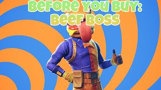 Fortnite Beef Boss Skin Review | Before You Buy showcase | In Game included