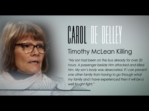 TIMOTHY MCLEAN KILLING (CAROL DE DELLEY INTERVIEW) AFTERMATH OF MURDER: SURVIVOR STORIES