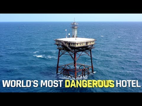 World's most DANGEROUS hotel - FRYING PAN TOWER
