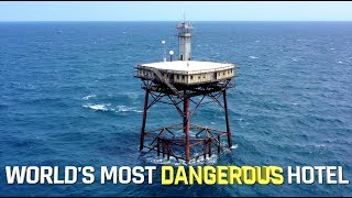 World's most DANGEROUS hotel - FRYING PAN TOWER thumbnail