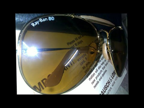 2d6bc3fc116 How to tell the age of your vintage Ray-Ban sunglasses - YouTube